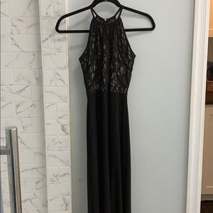 Morgan & Co. Dresses - Long black formal high neck dress